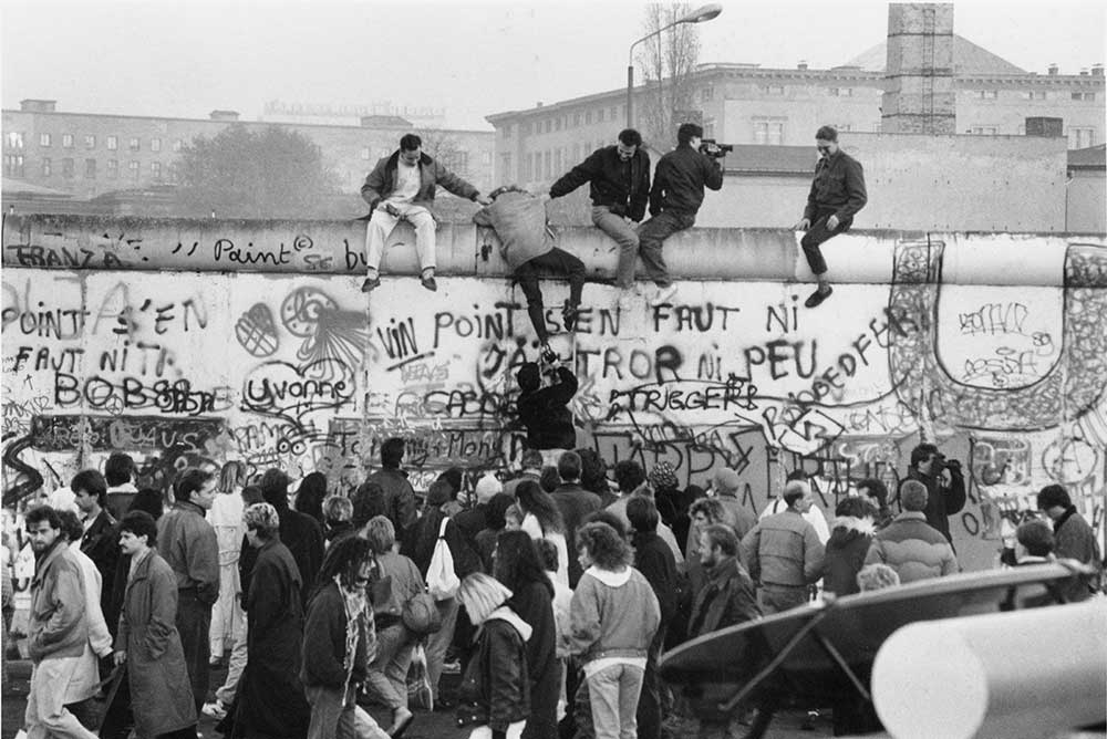 Fall of The Berlin Wall, 1989.