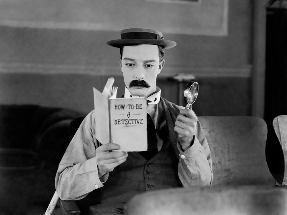 Buster Keaton in Sherlock Jr.