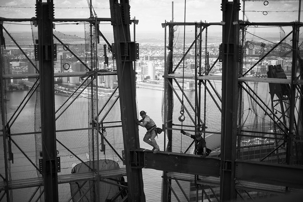 Ironworkers of One World Trade Center, New York, 2011.