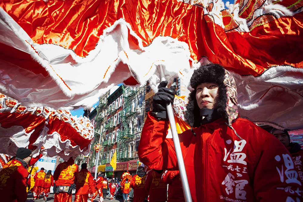 Lunar New Year Parade in Manhattan's Chinatown, 2016.
