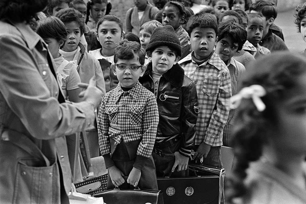 First day of school, P.S. 51 on W. 45th Street, 1975.